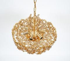 Palwa Set of 3 Gilt Brass Crystal Glass Encrusted Chandeliers By Palwa - 231483