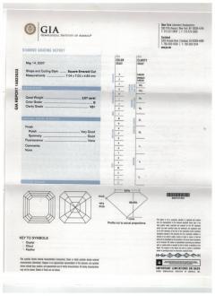 Pampillonia Asscher Cut Diamond Ring - 1018341