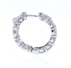 Pampillonia Diamond Hoop Earrings 5 74 Carat From Pampillonia - 1425225