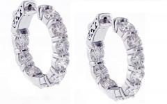 Pampillonia Diamond Hoop Earrings 5 74 Carat From Pampillonia - 1425226