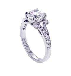 Pampillonia Diamond Solitaire Handmade Engagement Ring from Pampillonia - 1425045