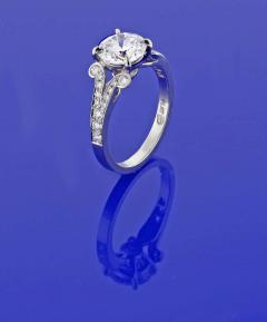 Pampillonia Diamond Solitaire Handmade Engagement Ring from Pampillonia - 1425047