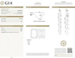 Pampillonia Emerald Cut Diamond Three Stone Ring - 1425168