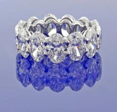 Pampillonia One Carat Each G I A Diamond Oval Band Ring by Pampillonia - 1425176