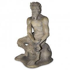 Pan Satyr Mythological Garden Stone Figure - 137554