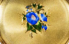 Patek Philippe Co 1830s Patek Hunting Case Enamel Flower Girl Motif 18 Karat YG Pocket Watch - 1205468