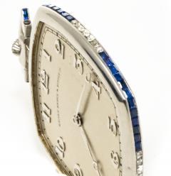 Patek Philippe Co 1930s Patek Philippe Platinum Sapphire Diamond Factory Set Pocket Watch - 867759
