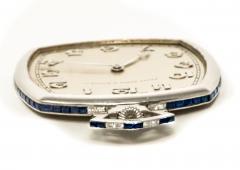 Patek Philippe Co 1930s Patek Philippe Platinum Sapphire Diamond Factory Set Pocket Watch - 867760
