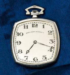 Patek Philippe Co 1930s Patek Philippe Platinum Sapphire Diamond Factory Set Pocket Watch - 867761