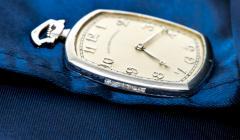 Patek Philippe Co 1930s Patek Philippe Platinum Sapphire Diamond Factory Set Pocket Watch - 867762
