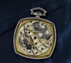 Patek Philippe Co 1930s Patek Philippe Platinum Sapphire Diamond Factory Set Pocket Watch - 867763