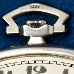 Patek Philippe Co 1930s Patek Philippe Platinum Sapphire Diamond Factory Set Pocket Watch - 867765