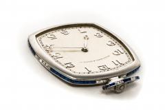 Patek Philippe Co 1930s Patek Philippe Platinum Sapphire Diamond Factory Set Pocket Watch - 867768