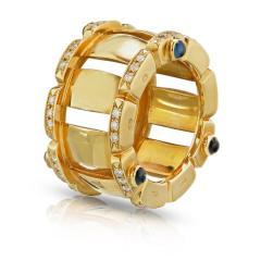 Patek Philippe Co PATEK PHILIPPE 18K YELLOW GOLD SAPPHIRE DIAMOND RING AND EARRINGS JEWELRY SET - 1744626