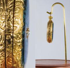 Patek Philippe Co Patek Philippe Enamel Diamond Pocket watch 1830s w Aquamarine Blue Rays - 1205114