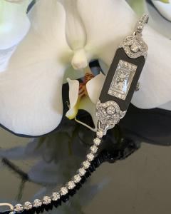 Patek Philippe Co Platinum Ladies deco watch - 1933087