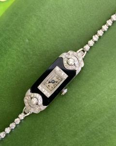 Patek Philippe Co Platinum Ladies deco watch - 1933088