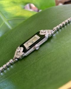 Patek Philippe Co Platinum Ladies deco watch - 1933089