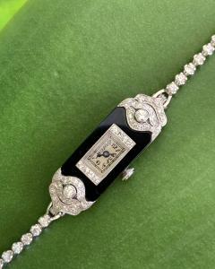 Patek Philippe Co Platinum Ladies deco watch - 1933090