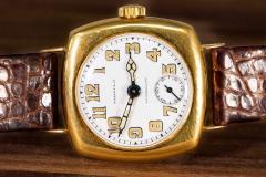 Patek Philippe Co Rare 1920s 18kt YG Tiffany for Patek Philippe Enamel Cushion Officers Wristwatch - 1113303