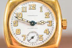 Patek Philippe Co Rare 1920s 18kt YG Tiffany for Patek Philippe Enamel Cushion Officers Wristwatch - 1113304