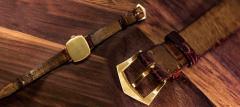 Patek Philippe Co Rare 1920s 18kt YG Tiffany for Patek Philippe Enamel Cushion Officers Wristwatch - 1113305