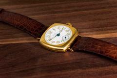 Patek Philippe Co Rare 1920s 18kt YG Tiffany for Patek Philippe Enamel Cushion Officers Wristwatch - 1113307