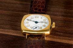 Patek Philippe Co Rare 1920s 18kt YG Tiffany for Patek Philippe Enamel Cushion Officers Wristwatch - 1113308