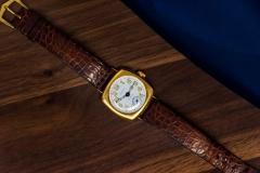 Patek Philippe Co Rare 1920s 18kt YG Tiffany for Patek Philippe Enamel Cushion Officers Wristwatch - 1113310