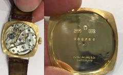 Patek Philippe Co Rare 1920s 18kt YG Tiffany for Patek Philippe Enamel Cushion Officers Wristwatch - 1113313