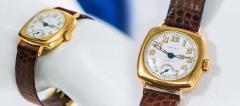 Patek Philippe Co Rare 1920s 18kt YG Tiffany for Patek Philippe Enamel Cushion Officers Wristwatch - 1113314