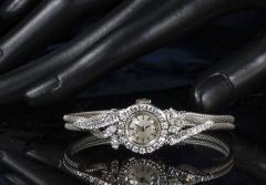 Patek Philippe Co Rare 1950s 1960s Patek Philippe Platinum Triple Diamond Twist Motif Bracelet - 1423317