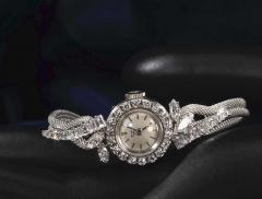 Patek Philippe Co Rare 1950s 1960s Patek Philippe Platinum Triple Diamond Twist Motif Bracelet - 1423318
