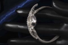 Patek Philippe Co Rare 1950s 1960s Patek Philippe Platinum Triple Diamond Twist Motif Bracelet - 1423319