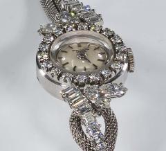 Patek Philippe Co Rare 1950s 1960s Patek Philippe Platinum Triple Diamond Twist Motif Bracelet - 1423321