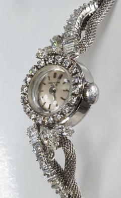 Patek Philippe Co Rare 1950s 1960s Patek Philippe Platinum Triple Diamond Twist Motif Bracelet - 1423333