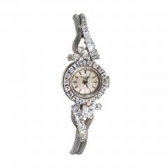 Patek Philippe Co Rare 1950s 1960s Patek Philippe Platinum Triple Diamond Twist Motif Bracelet - 1423908