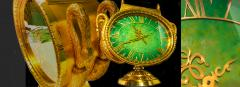Patek Philippe Co Rare 1965s Patek Philippe Jade Swan Solar Clock Largest Solar Clock Ever Made - 867727