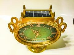 Patek Philippe Co Rare 1965s Patek Philippe Jade Swan Solar Clock Largest Solar Clock Ever Made - 867729
