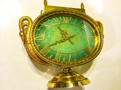 Patek Philippe Co Rare 1965s Patek Philippe Jade Swan Solar Clock Largest Solar Clock Ever Made - 867732