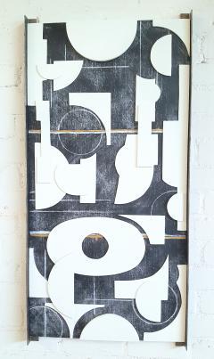 Paul Marra Design Art Panel Modernist Frieze - 1938172