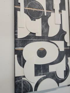 Paul Marra Design Art Panel Modernist Frieze - 1938175