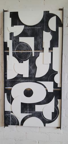 Paul Marra Design Art Panel Modernist Frieze - 1942727