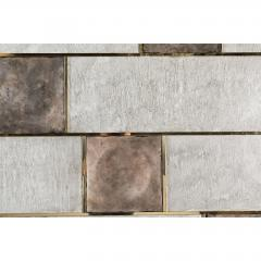 Paul Marra Design Art Wall Panel with Mixed Materials and Textured Finish by Paul Marra - 1313674