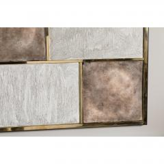 Paul Marra Design Art Wall Panel with Mixed Materials and Textured Finish by Paul Marra - 1313675