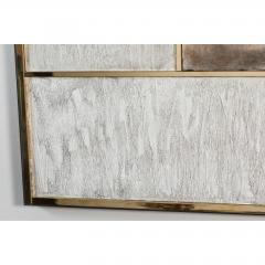 Paul Marra Design Art Wall Panel with Mixed Materials and Textured Finish by Paul Marra - 1313676