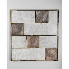 Paul Marra Design Art Wall Panel with Mixed Materials and Textured Finish by Paul Marra - 1313689