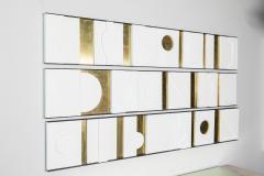 Paul Marra Design Art Wall Sculpture Modernist Frieze Panels Triptych by Paul Marra - 1285776