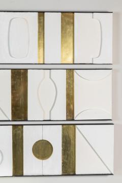 Paul Marra Design Art Wall Sculpture Modernist Frieze Panels Triptych by Paul Marra - 1285823