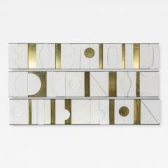 Paul Marra Design Art Wall Sculpture Modernist Frieze Panels Triptych by Paul Marra - 1288990